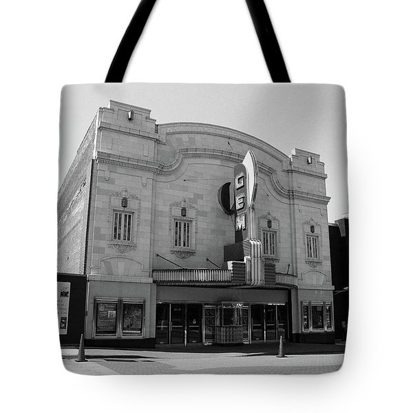 Tote Bag featuring the photograph Kansas City - Gem Theater Bw by Frank Romeo