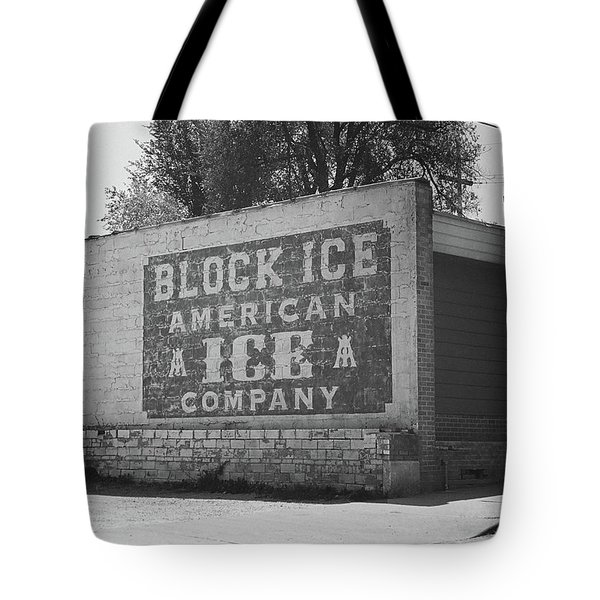 Tote Bag featuring the photograph Kansas City Ghost Mural Bw by Frank Romeo
