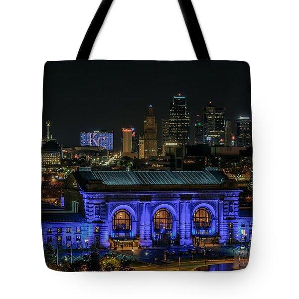 Kansas City In Royal Blue Tote Bag
