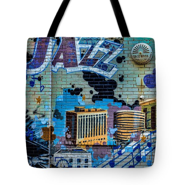 Kansas City Jazz Mural Tote Bag