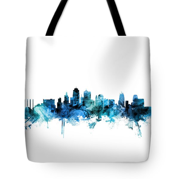 Kansas City Missouri Skyline Tote Bag