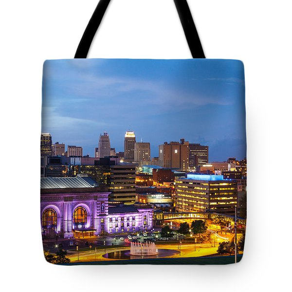 Kansas City Night Sky Tote Bag