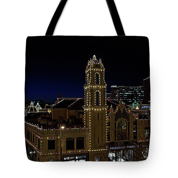 Kansas City Plaza Lights Tote Bag by Tim McCullough