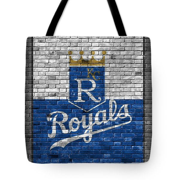 Kansas City Royals Brick Wall Tote Bag