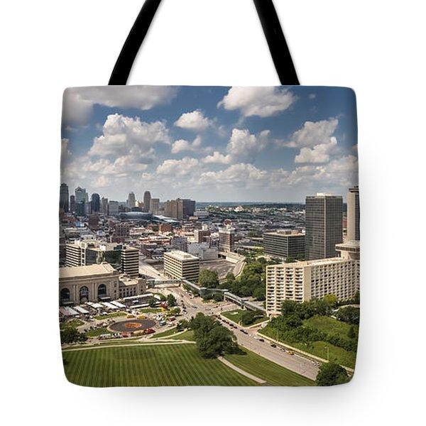 Kansas City Skyline Aerial  Tote Bag