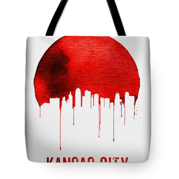 Kansas City Skyline Red Tote Bag