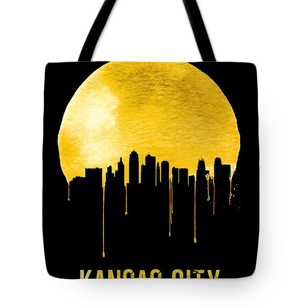 Kansas City Skyline Yellow Tote Bag