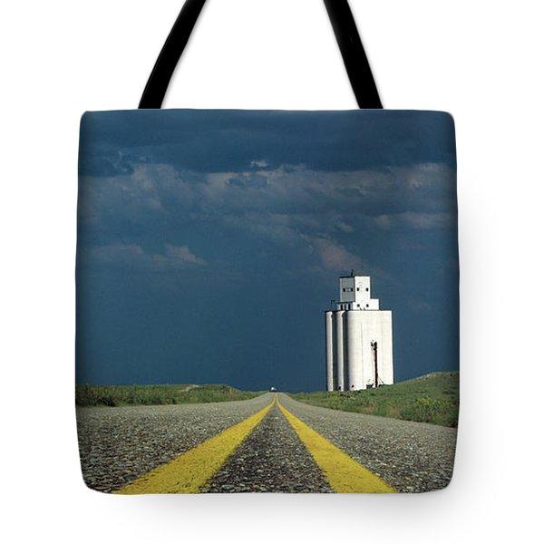 Kansas Grain Elevator Tote Bag by Garry McMichael