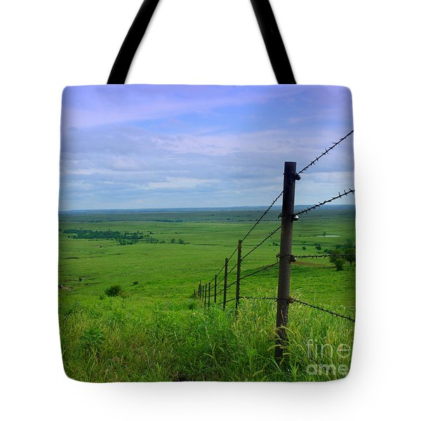 Tote Bag featuring the photograph Kansas Prairie by E B Schmidt