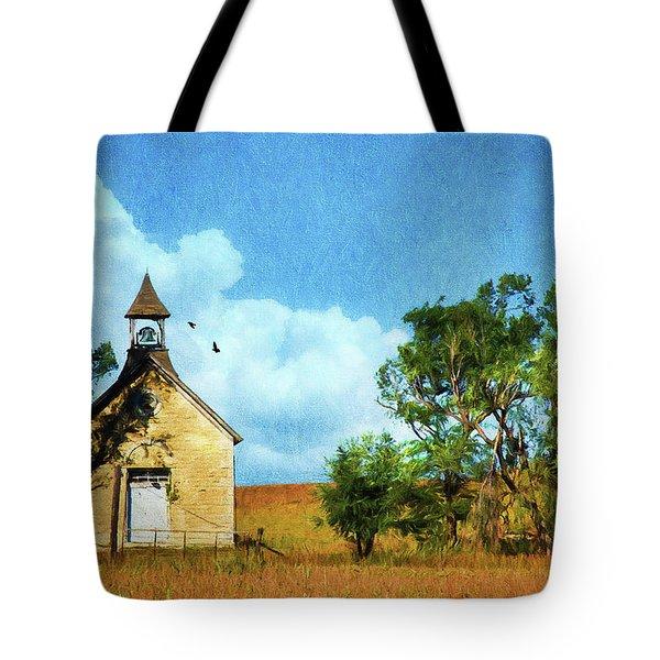 Kansas Prairie Schoolhouse Tote Bag