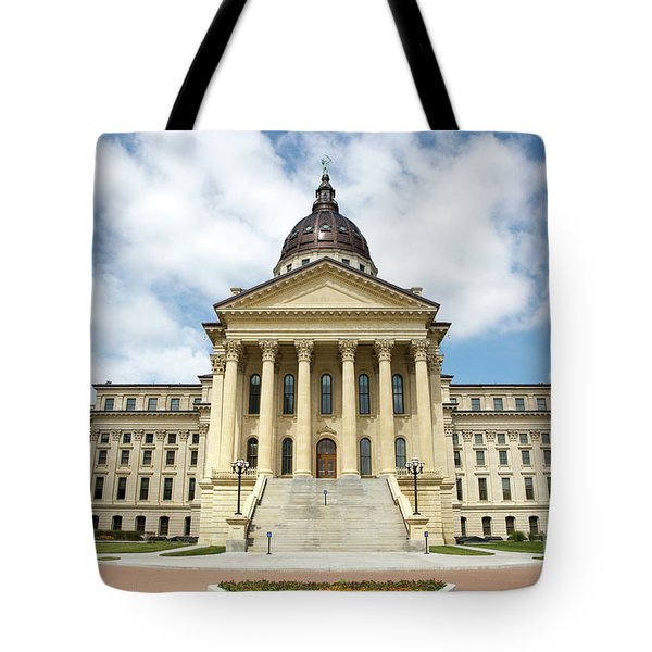 Tote Bag featuring the photograph Kansas State Capitol Building by Steven Frame