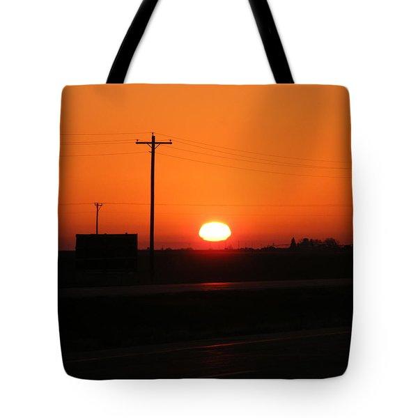 Kansas Sunrise Tote Bag by Adam Cornelison