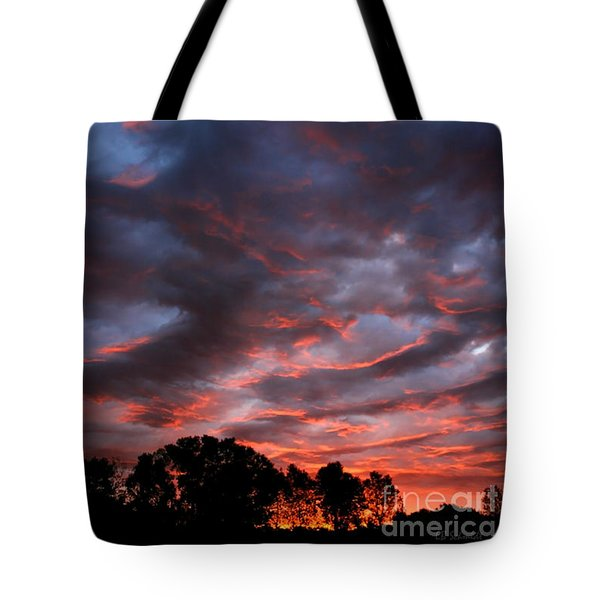 Kansas Sunrise Vertical Tote Bag