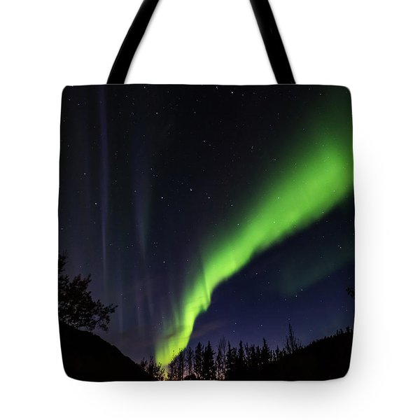 Kantishna Northern Lights In Denali National Park Tote Bag