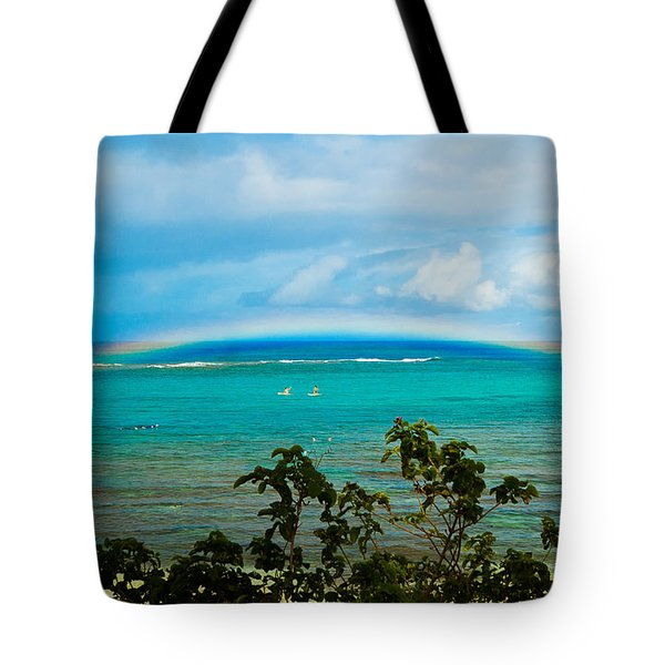 Kapalua Bay Rainbow Tote Bag