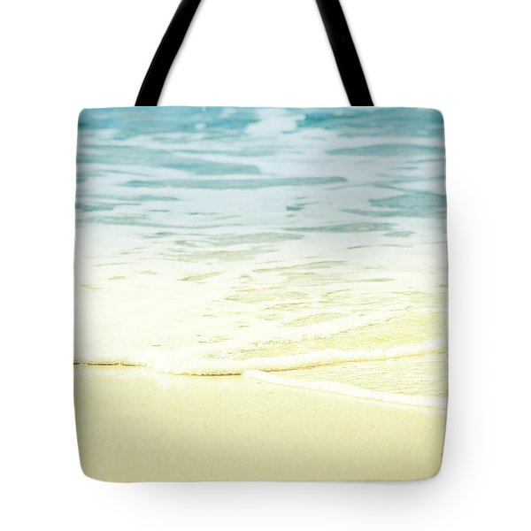 Kapalua Beach Dream Colours Sparkling Golden Sand Seafoam Maui Tote Bag by Sharon Mau
