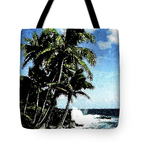 Tote Bag featuring the photograph Kapoho by Randy Sylvia