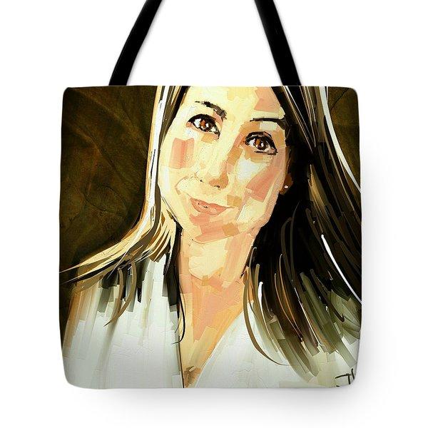 Tote Bag featuring the digital art Karen by Jim Vance