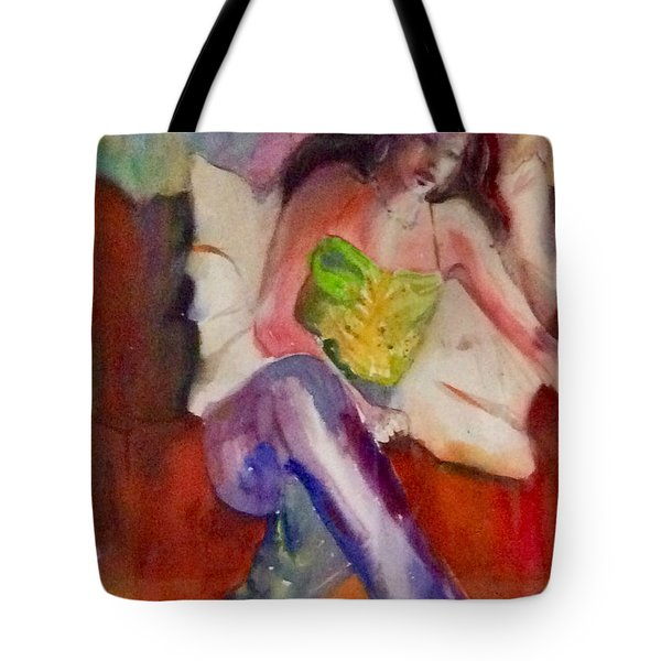 Karini In Blue Jeans Tote Bag