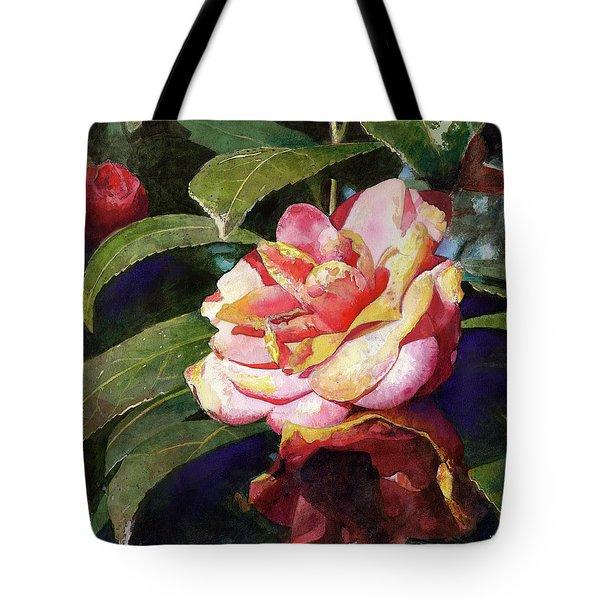 Karma Camellia Tote Bag