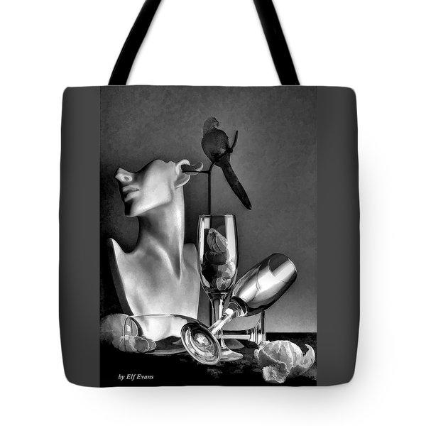 Karo In Black And White Tote Bag