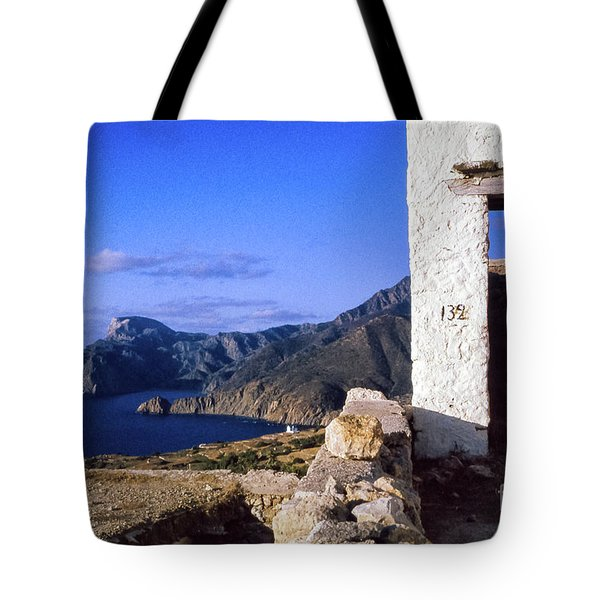 Tote Bag featuring the photograph Karpathos Island Greece by Silvia Ganora