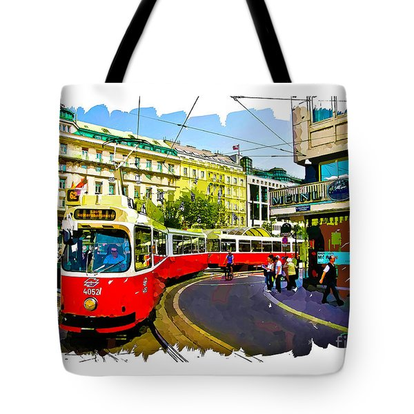 Kartner Strasse - Vienna Tote Bag by Tom Cameron