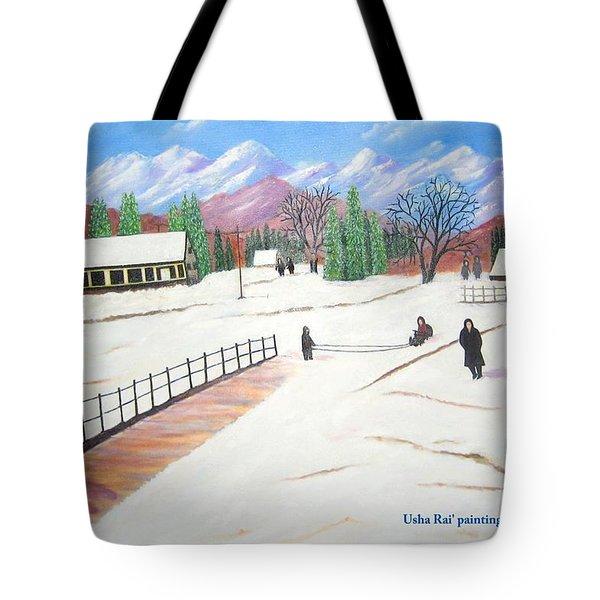 Kashmir Tote Bag by Usha Rai