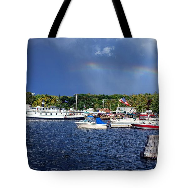 Katahdin Steamboat In Greenville Harbor Tote Bag