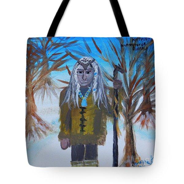 Katanka Protector Of Buffalo Tote Bag