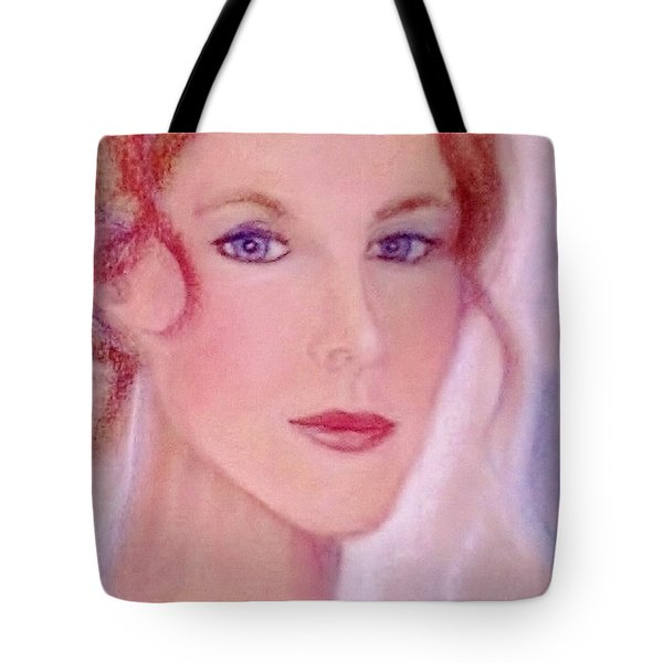 Tote Bag featuring the drawing Kate by Denise Fulmer