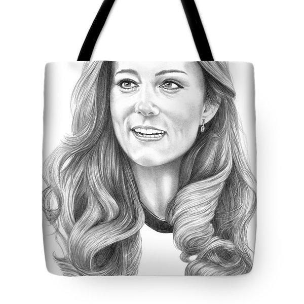Kate Middleton Catherine Duchess Of Cambridge Tote Bag by Murphy Elliott