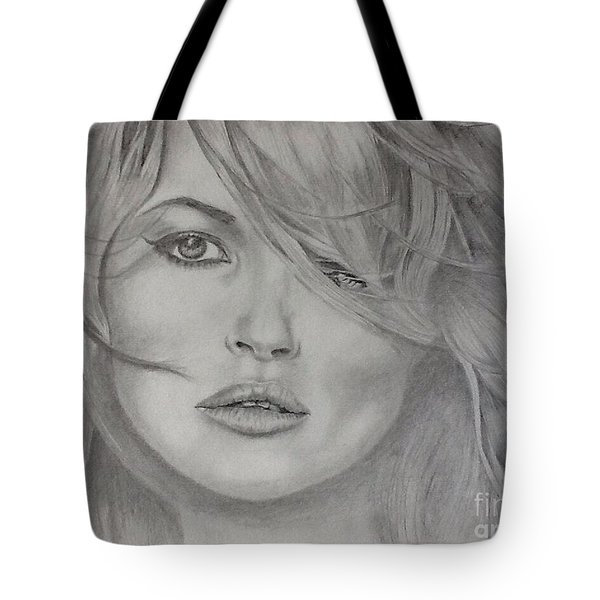 Kate Moss Fashion Model Tote Bag