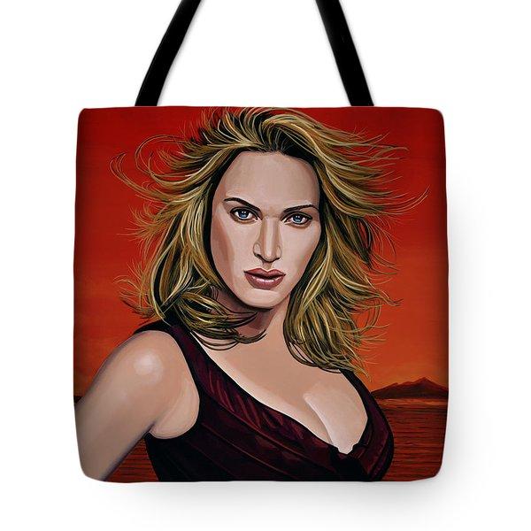 Kate Winslet Tote Bag by Paul Meijering
