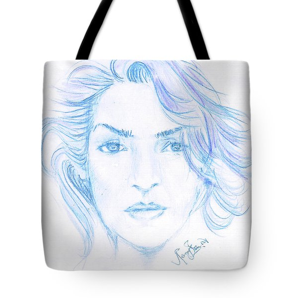 Kate Winslet Tote Bag by Remy Francis