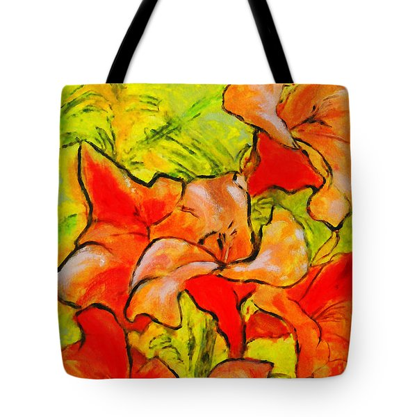 Kathies Daylilies Fine Art Painting North Carolina Tote Bag