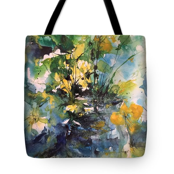 Kathleen's Yellow Flowers Tote Bag