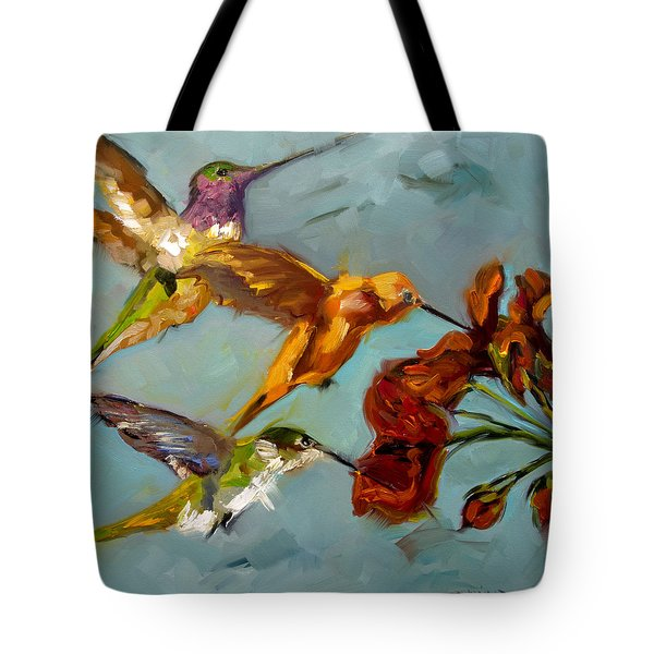 Kathy's Humming Birds Tote Bag