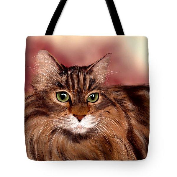 Katie- Custom Cat Portrait Tote Bag