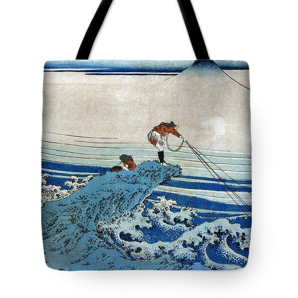 Katsushika: Fishing, C1834 Tote Bag by Granger