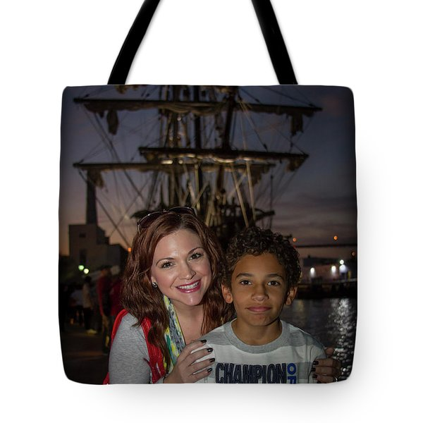 Tote Bag featuring the photograph Katy And Baby James Art by Reid Callaway