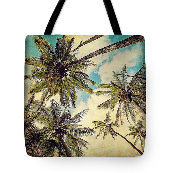 Kauai Island Palms - Blue Hawaii Photography Tote Bag by Melanie Alexandra Price