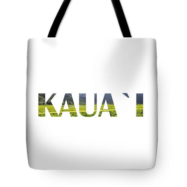 Kauai Letter Art Tote Bag by Saya Studios