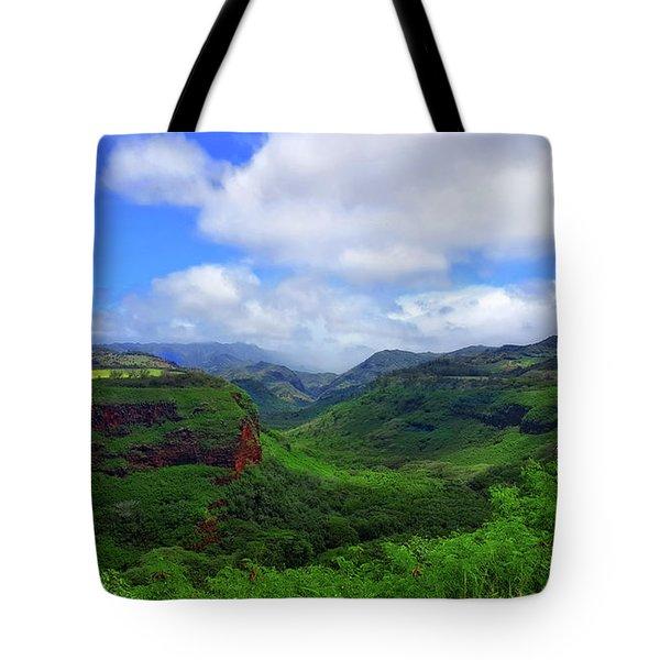 Kauai Mountains Tote Bag