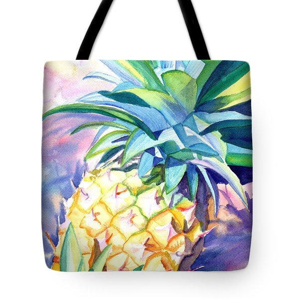 Tote Bag featuring the painting Kauai Pineapple 3 by Marionette Taboniar