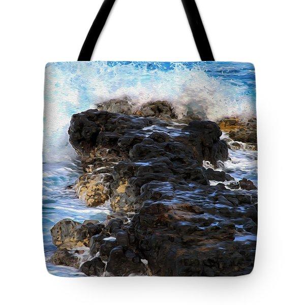 Kauai Rock Splash Tote Bag