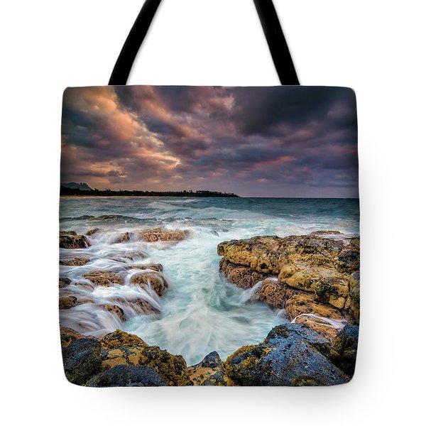 Kauai Ocean Rush Tote Bag