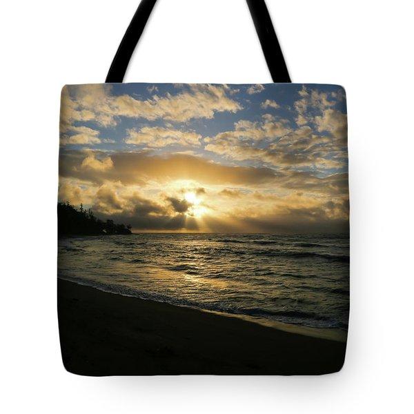 Tote Bag featuring the photograph Kauai Sunrise by T A Davies