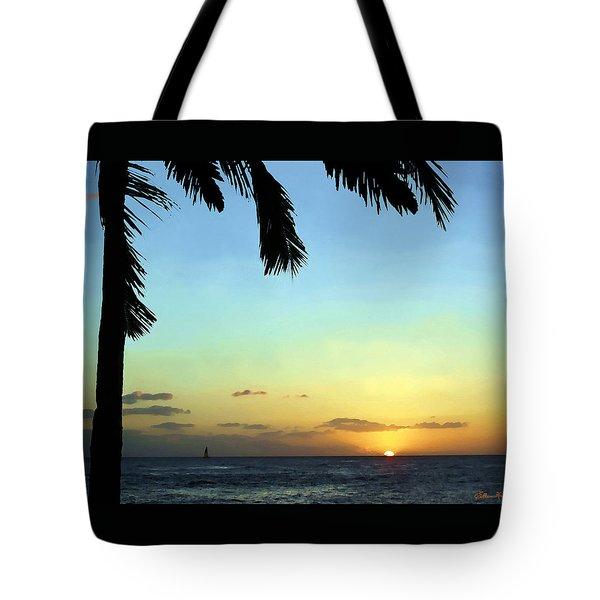Kauai Sunset Tote Bag by Ellen Henneke