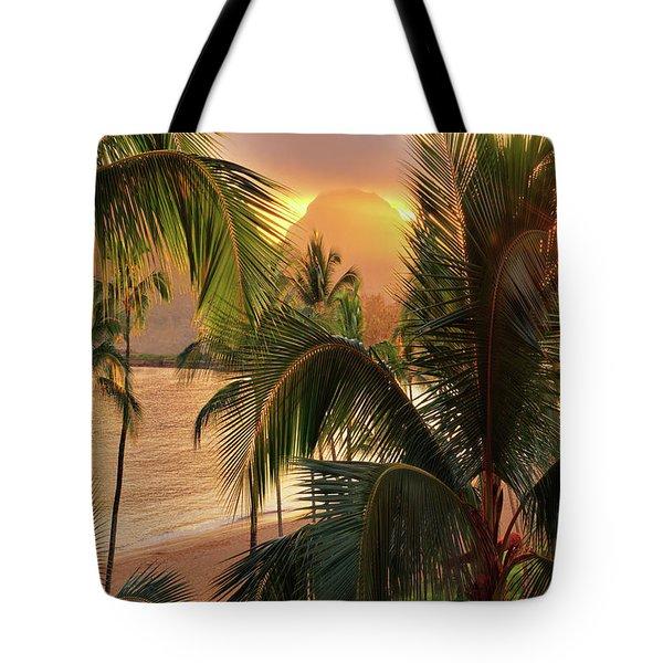 Olena Art Kauai Tropical Island View Tote Bag